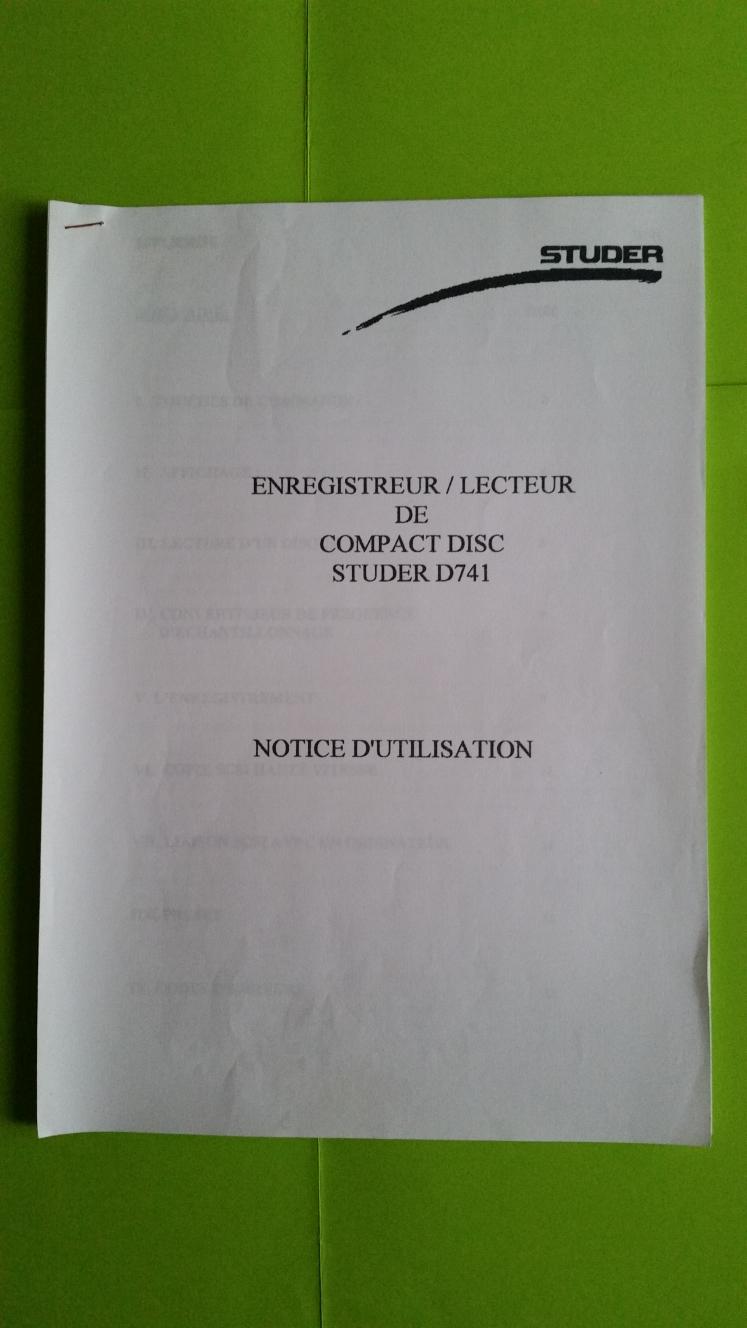 STUDER D 741 0 Montpellier (34)