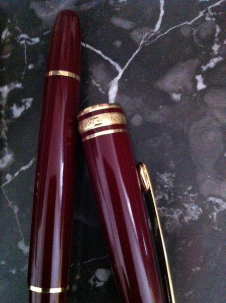 stylo plume mont blanc bordeaux