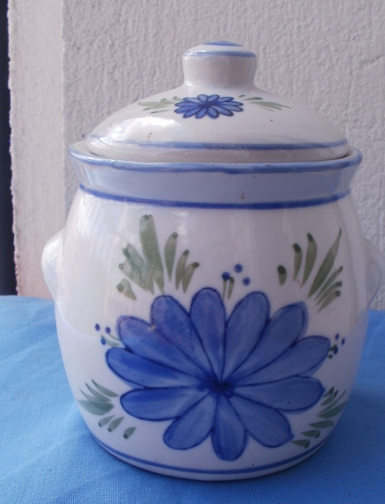 Sucrier décoré de fleurs bleues 6 Montauban (82)