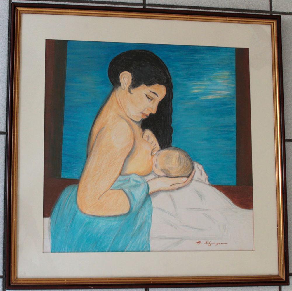 SUISSE ELZINGRE MERE à L'ENFANT ANCIEN PEINTURE 100 Nice (06)