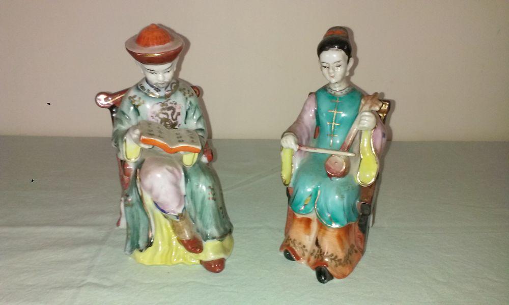 Sujet en porcelaine japonais en couple  25 Cahors (46)