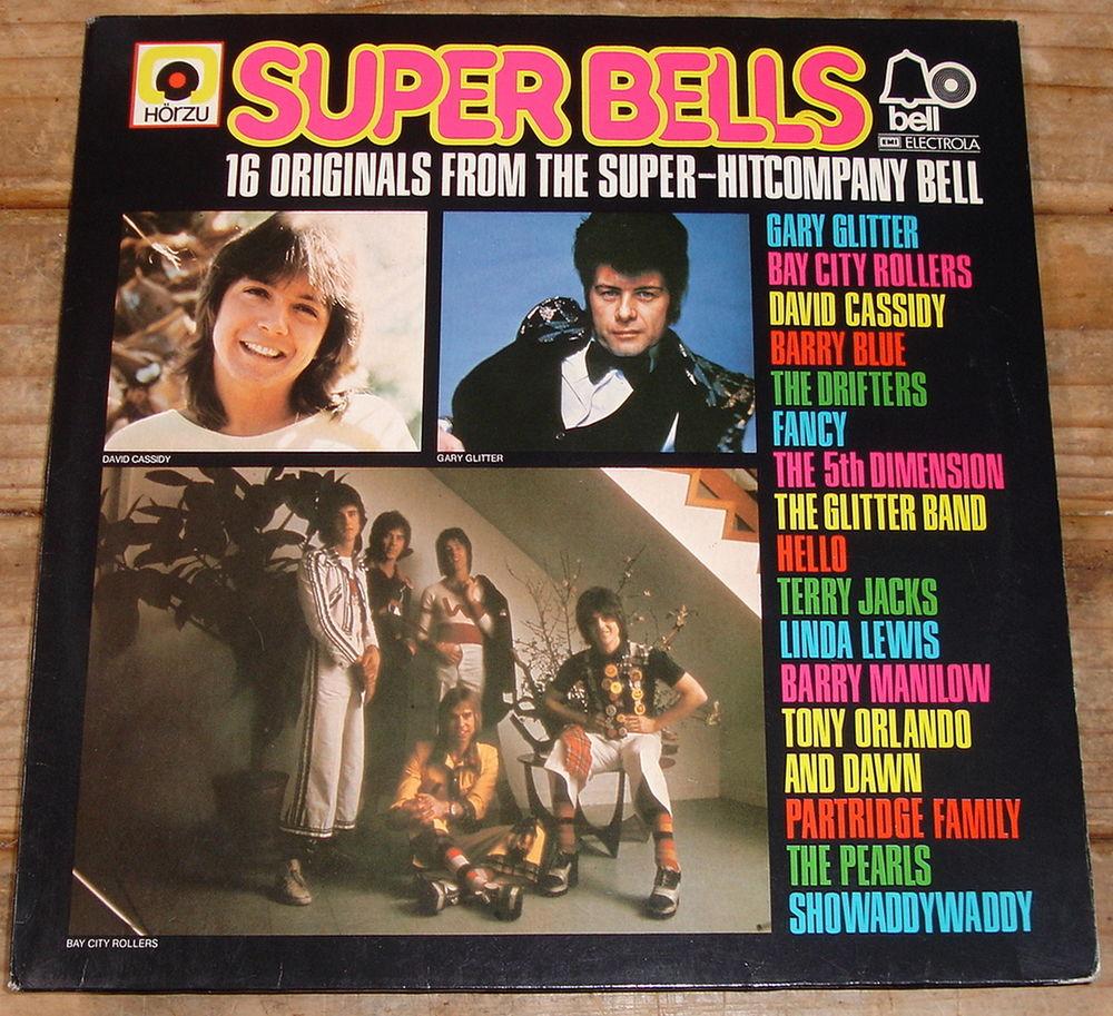 SUPER BELLS-33t-GARY GLITTER-DAVID CASSIDY-DRIFTERS-Germ1975 CD et vinyles