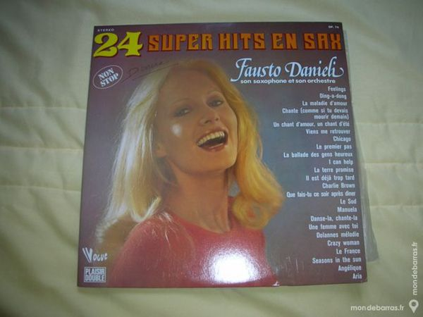 24 SUPER HITS EN SAX DP 74 CD et vinyles