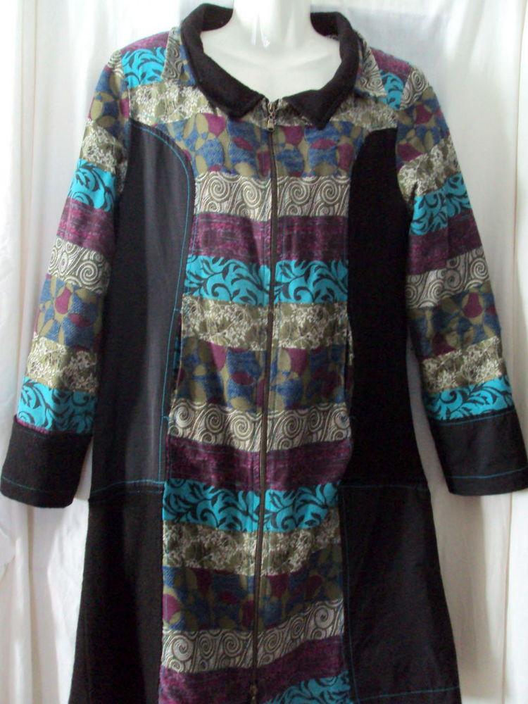 SUPER Manteau noir & multicolore T.40 8 Clermont-Ferrand (63)