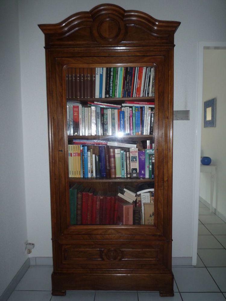 SUPERBE BIBILIOTHEQUE NOYER  ACHETEE CHEZ UN ANTIQUAIRE 280 Saint-Médard-en-Jalles (33)