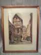 Superbe gravure ancienne de la Rue Saint Romain à Rouen Décoration