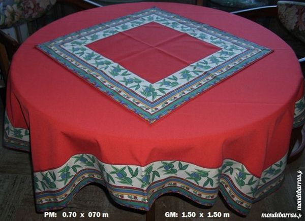 Superbe Nappe de table artisanale 50 Antibes (06)