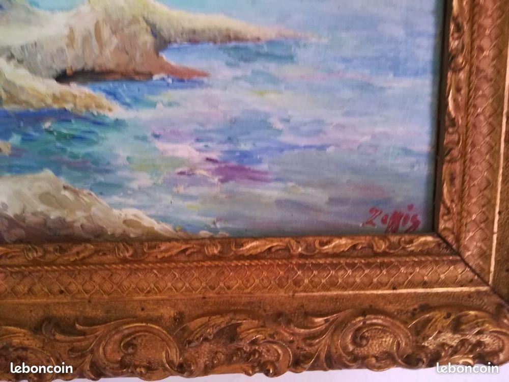 Superbe peinture ancienne sur toile.  145 Apt (84)