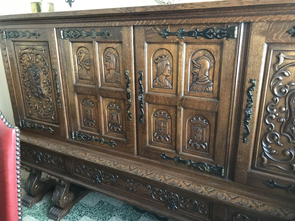 superbe salle à manger renaissance espagnole en chêne 1500 Marcq-en-Barœul (59)