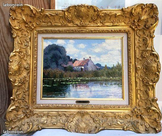 Superbe tableau de LUC DIDER   La Courberie à CLAMARAIS  690 Congis-sur-Thérouanne (77)