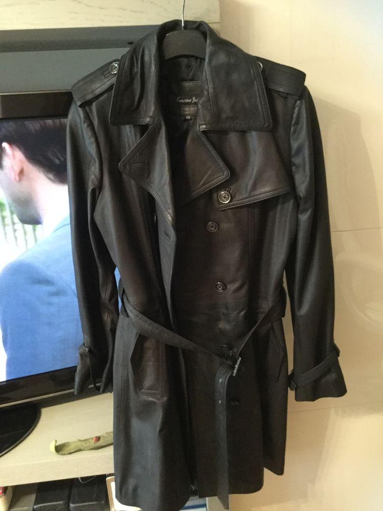 Superbe trench-coat en cuir noir 70 Villeparisis (77)