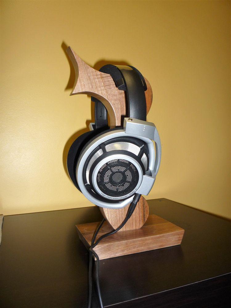 support casque HIFI bois Audio et hifi