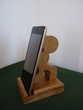 support téléphone en bois massif vernis satiné Téléphones et tablettes