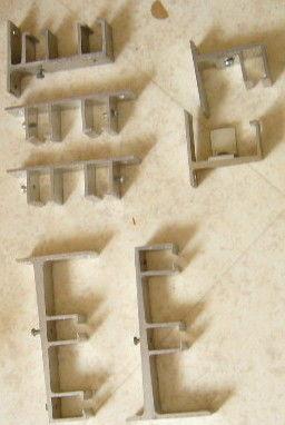 supports fixations tringles rideaux chemin de fer Bricolage