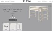 lit surélevé Flexa Classic blanc 400 Pompignac (33)