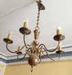 Suspension électrique ancienne, cuivre, diamètre 65cm,