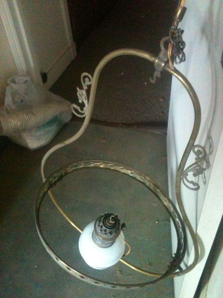 Suspension lampe ancienne cuivre ou laiton 30 Rouen (76)