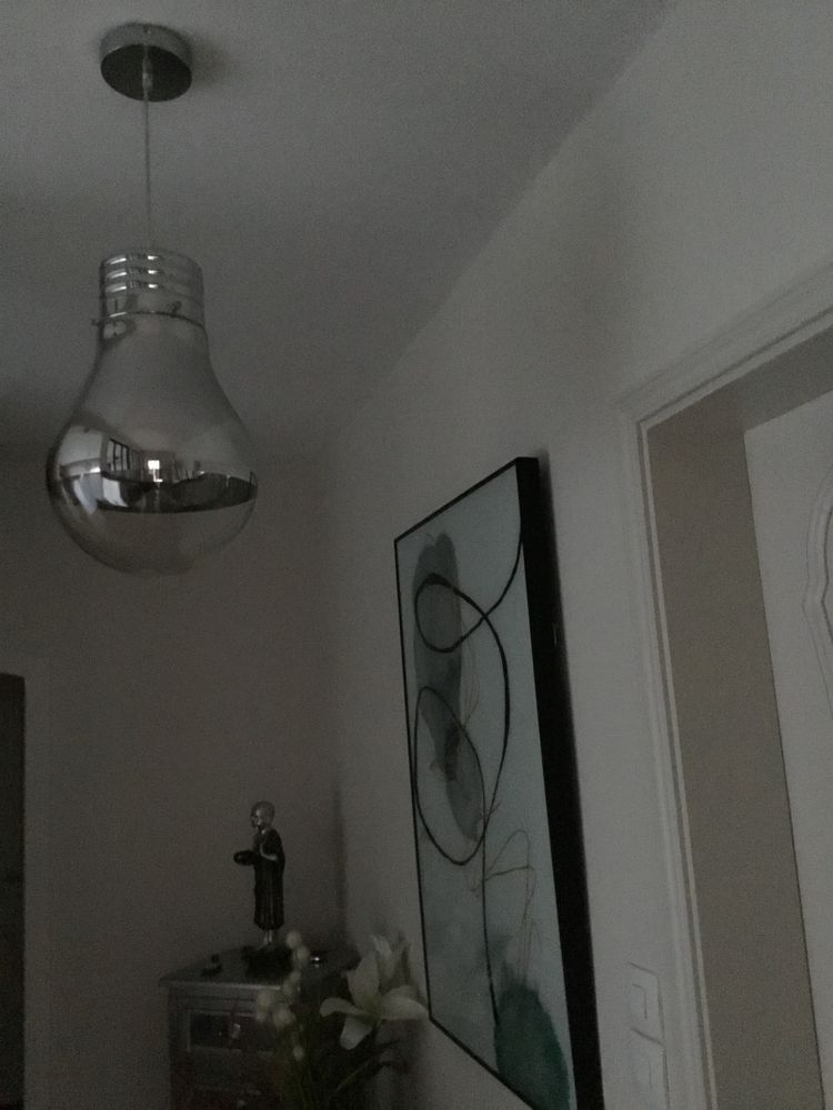 Suspension luminaire ,forme grosse ampoule 40 cm  45 Steenvoorde (59)