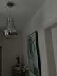 Suspension luminaire ,forme grosse ampoule 40 cm