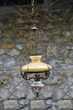 Suspension (lustre) ancienne en porcelaine Vert-Saint-Denis (77)