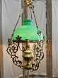 SUSPENSION LUSTRE LAMPE ART NOUVEAU OPALINE BRONZE CUIVRE or Marseille 11 (13)