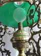SUSPENSION LUSTRE LAMPE ART NOUVEAU OPALINE BRONZE CUIVRE or Décoration