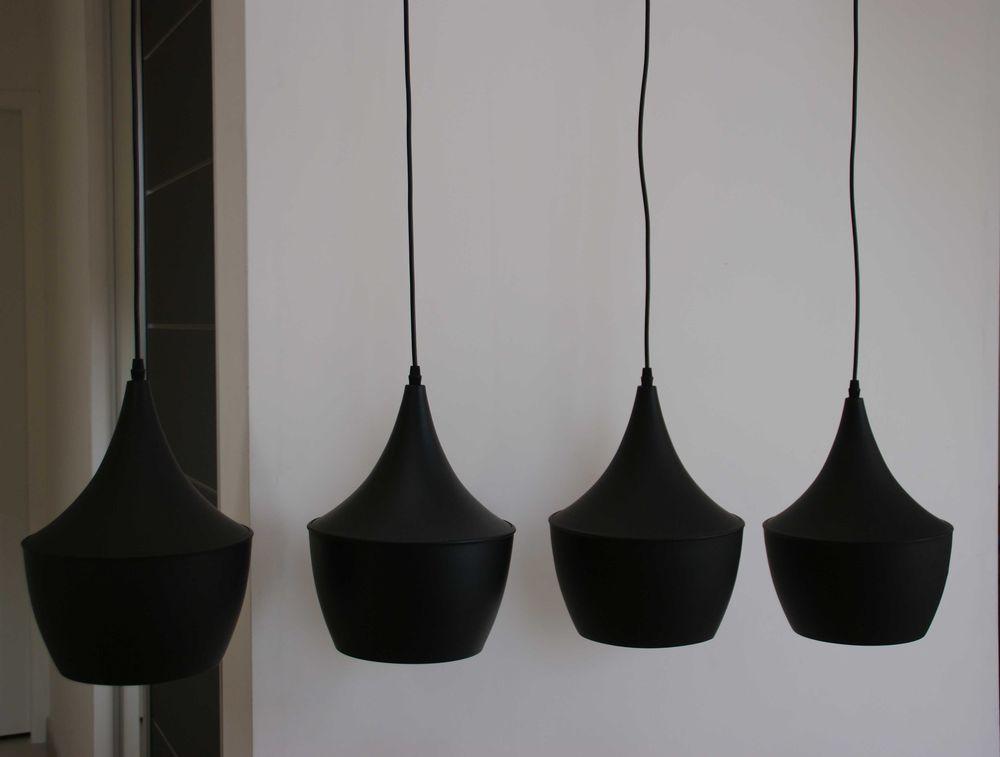 Suspension noire 4 lampes 275 Saint-Hilaire (91)