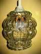 Suspension / plafonnier vintage en verre moulé Nyons (26)