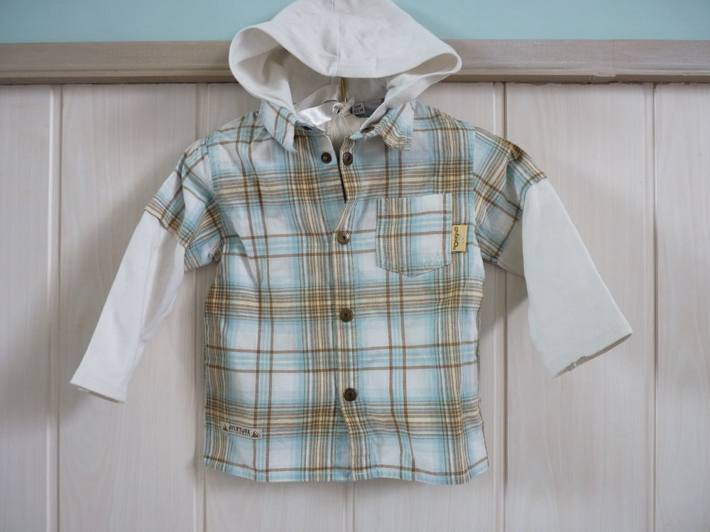 sweat aubisou bebe garçon 18 mois carreaux tbe 5 Brienne-le-Château (10)