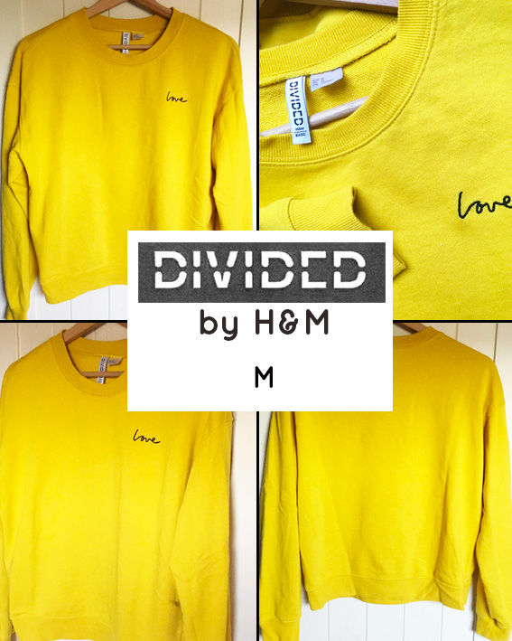 Sweat jaune moutarde DIVIDED by H&M M 12 Marcq-en-Barœul (59)