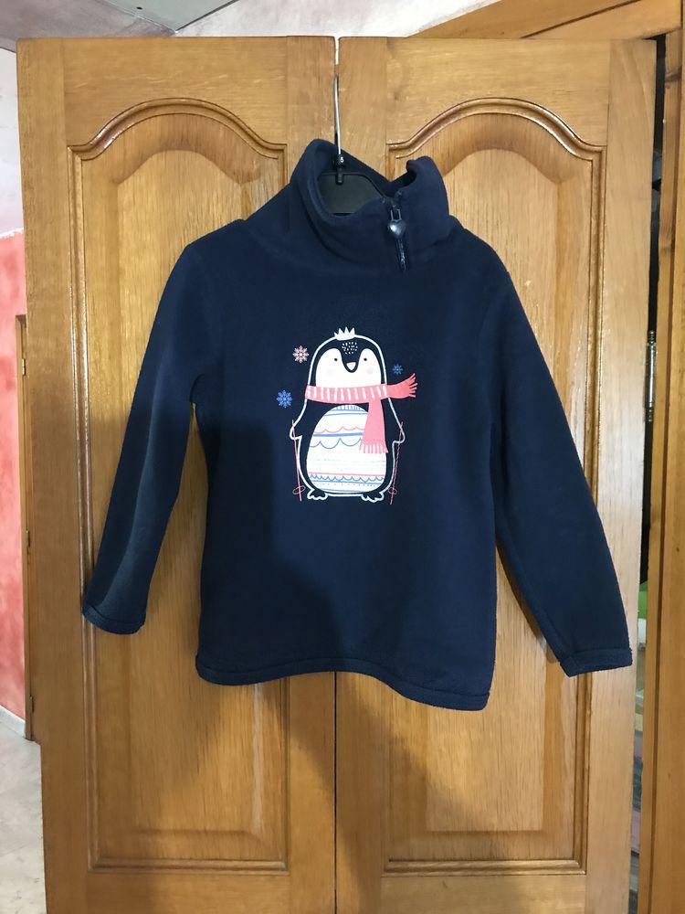 sweat polaire enfant fille motif pingouin   Palomino 3 Saleilles (66)