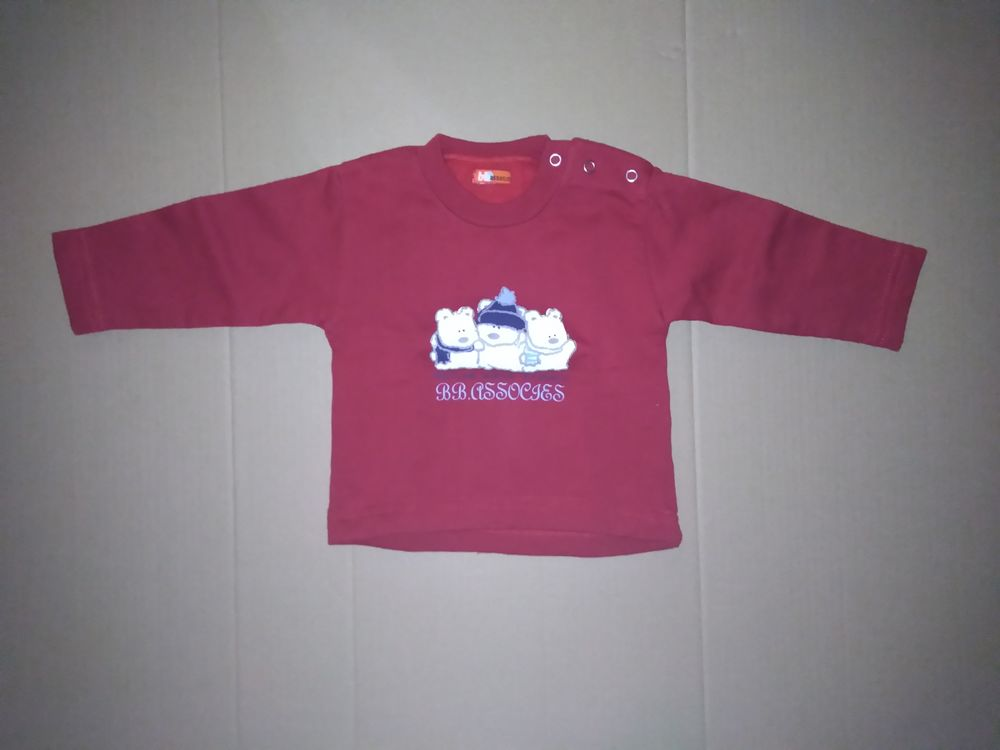Sweat rouge bb BB ASSOCIES 3 ours - 3 mois 3 Semoy (45)