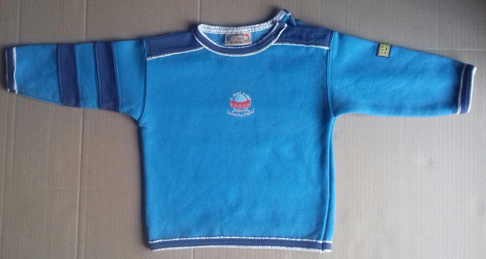 Sweat shirt bleu - DPAM- 12 mois 5 Semoy (45)