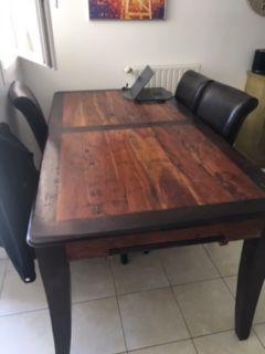TABLE ACACIA MASSIF  400 Garches (92)