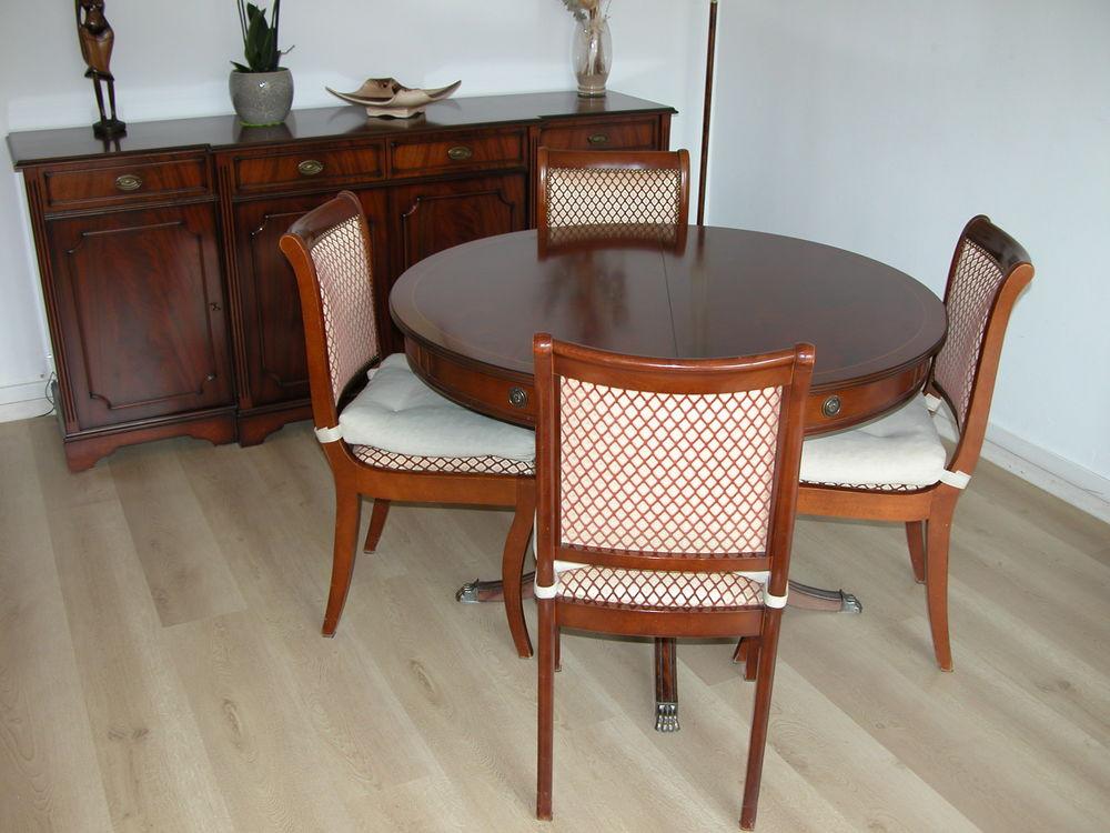 Table acajou de style anglais avec 4 chaises 350 Gif-sur-Yvette (91)