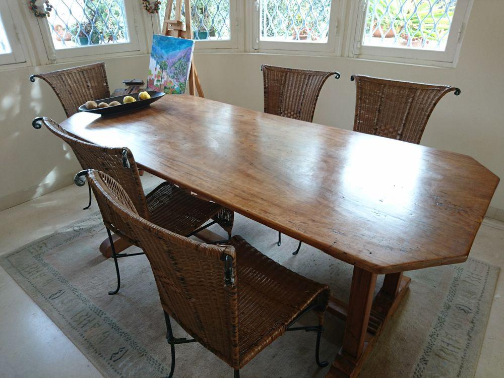 Incroyable Table Ancienne Bois Exotique 6/8couverts Pieds Scultu0026eacute ...