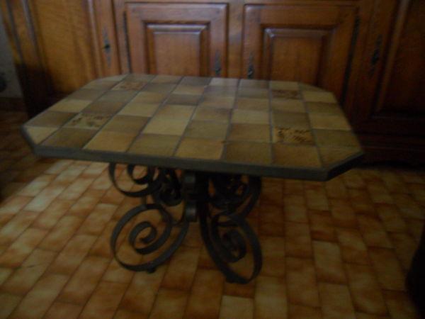 TABLE ARTISANALE EN FER FORGE 140 Amélie-les-Bains-Palalda (66)