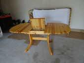 TABLE EN PIN AVEC RALLONGE INTEGREE 75 Chantonnay (85)