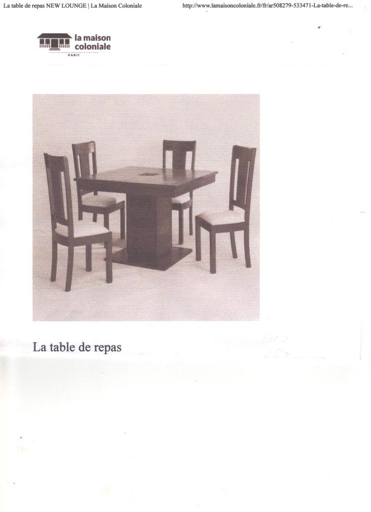 TABLE AVEC RALLONGE +QUATRE CHAISES 1000 Saint-Astier (24)