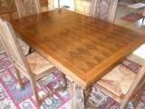 Table avec rallonges et 6 chaises salle à manger 380 Saint-Brieuc (22)