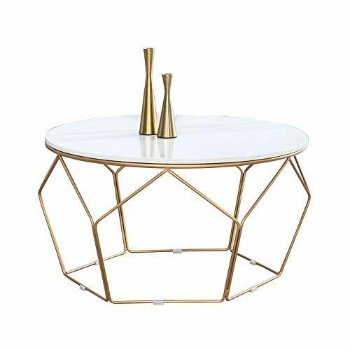 Table basse acier doré dessus marbre  250 Narbonne (11)
