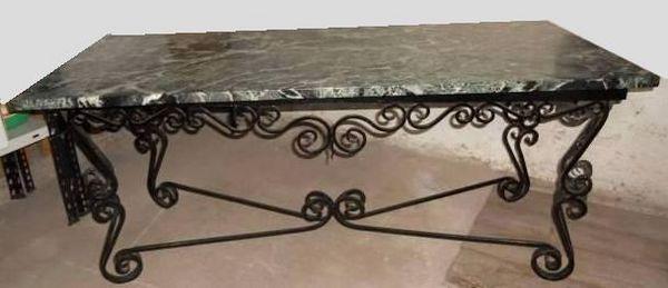 Achetez table basse occasion annonce vente strasbourg for Table basse fer forge et bois