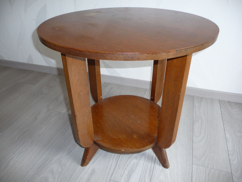 Table basse ancienne ronde en bois 50 Gravelines (59)