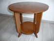 Table basse ancienne ronde en bois