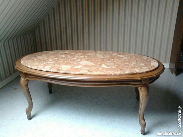 table basse avec plateau en marbre 50 Courbevoie (92)