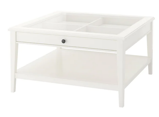 Table basse, blanc/verre IKEA 45 Bezons (95)