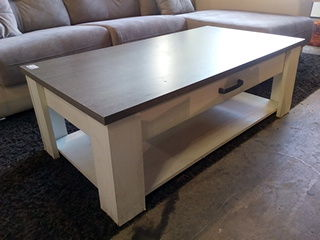Table basse blanche et grise  80 Toulouse (31)