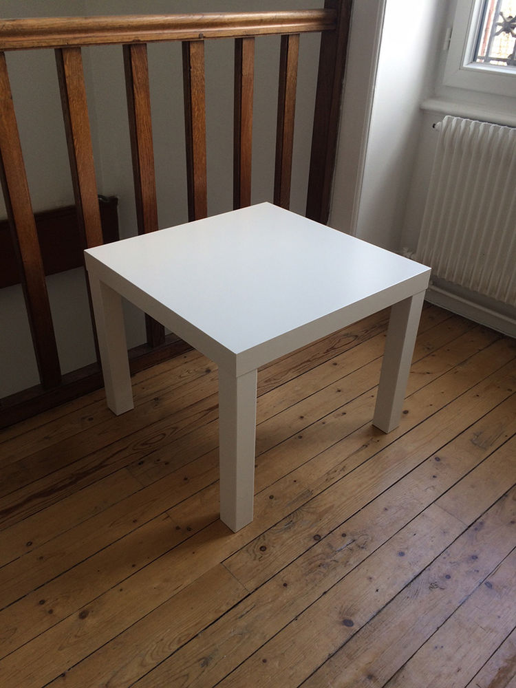 TABLE BASSE BLANCHE / D'APPOINT 55 X 55 X 45 cmoccasion, Éc 8 Écully (69)