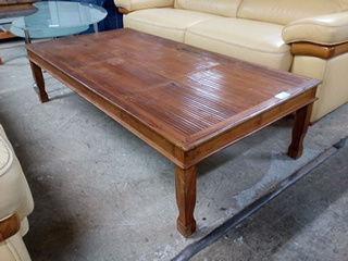 Table basse en bois exotique et bambou 60 Toulouse (31)