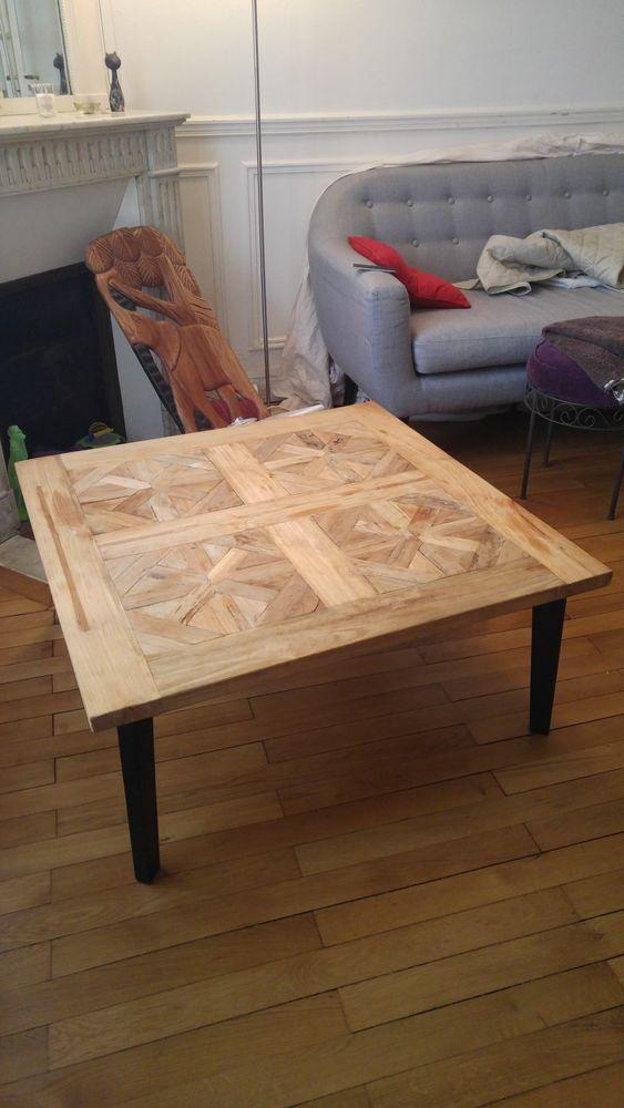 Table Basse En Bois Brut.Table Basse Bois Brut Pieds Noir